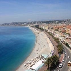 The beachfront in Nice