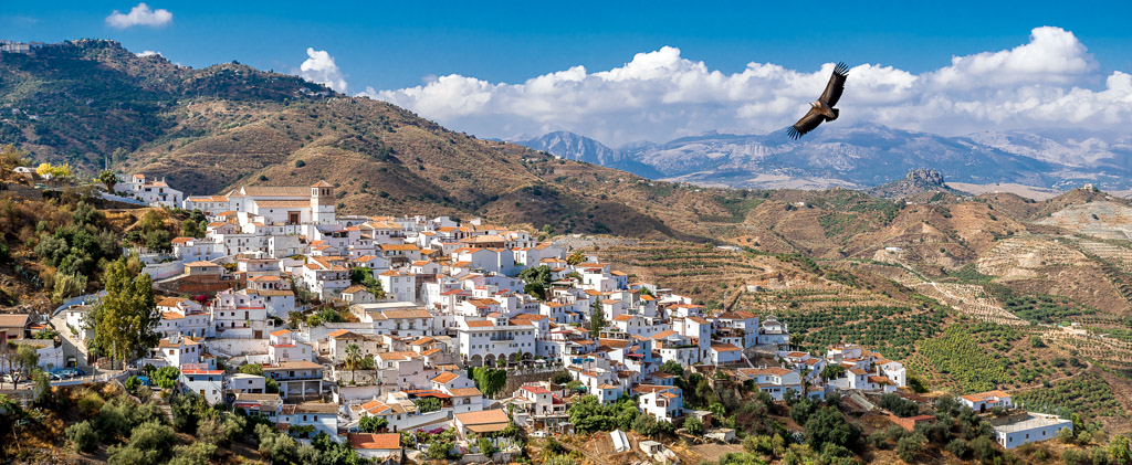 Torrox town and surrounding mountains