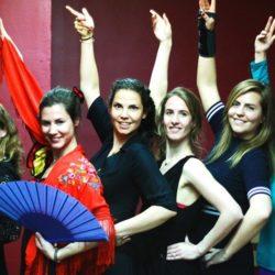 flamenco dance students