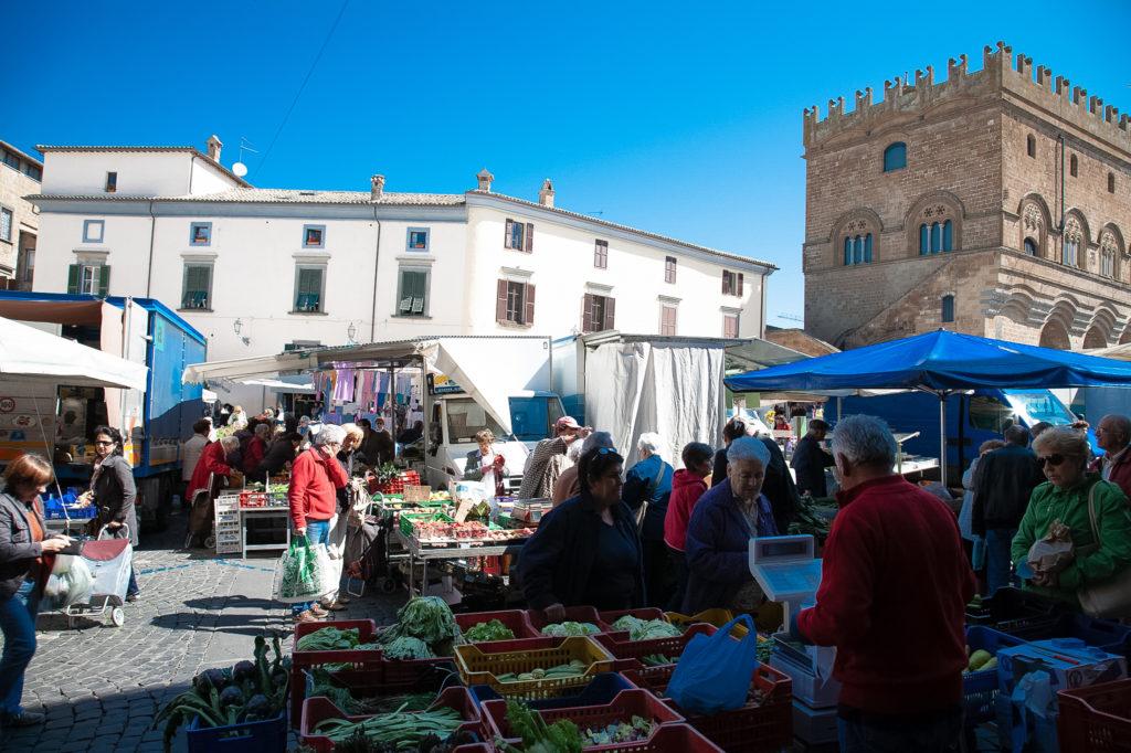 market stalls in umbria