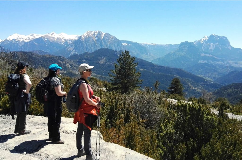 view of the spanish pyrenees mountains