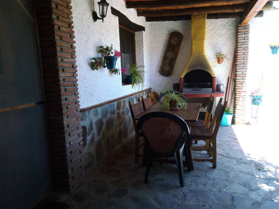 table outside ranch accommodation in andalucia