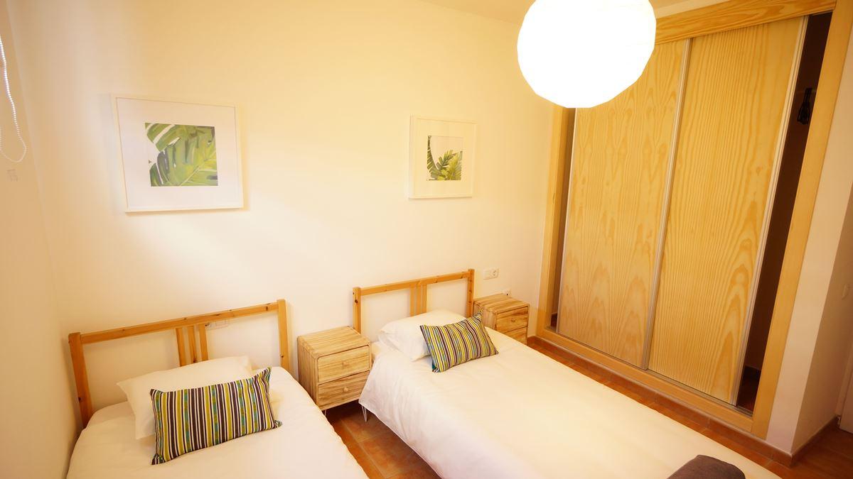 modern twin bedroom