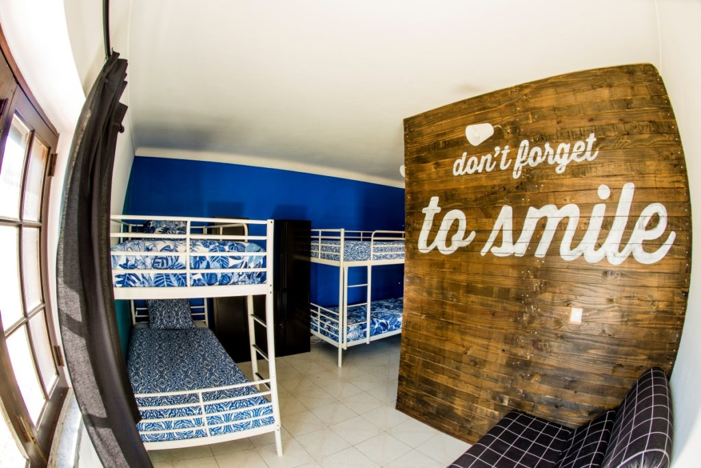 dorm room in surf house