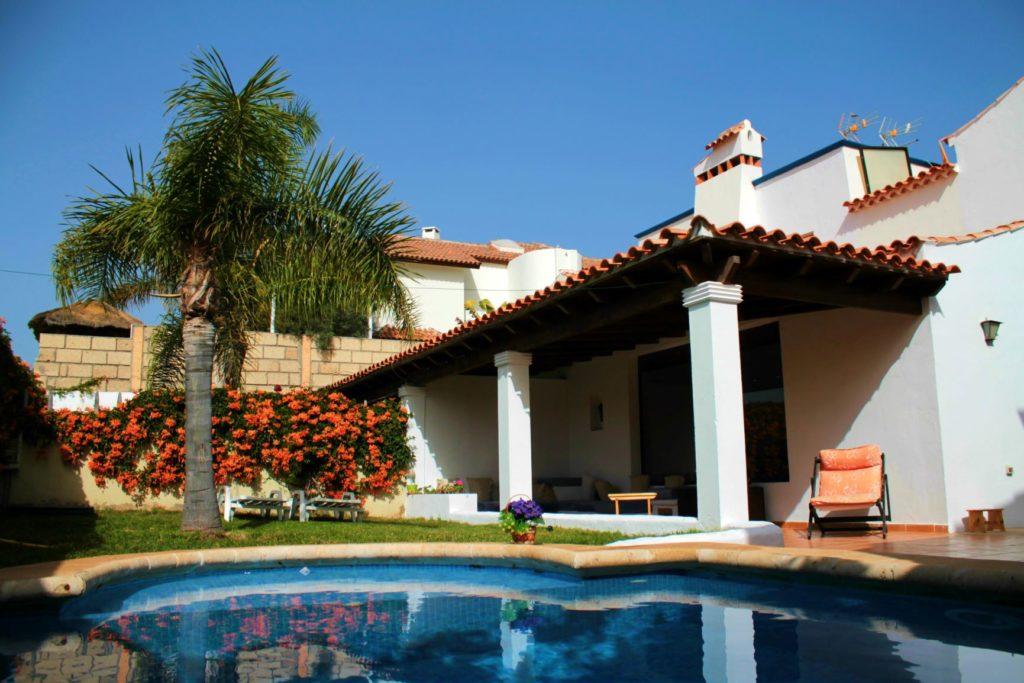 swimming pool and villa in tenerife