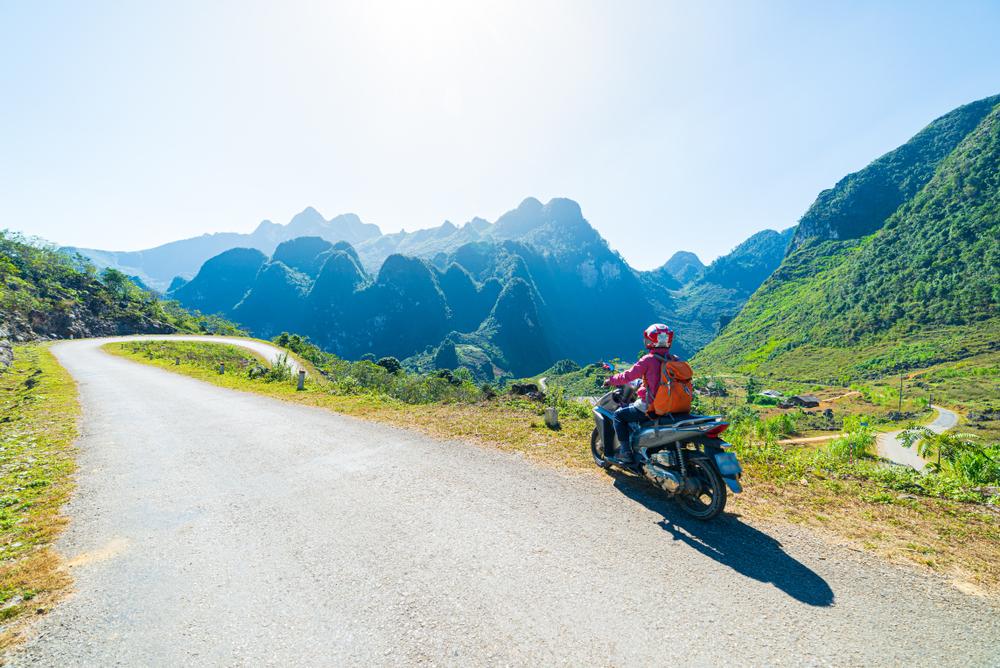 motorbike in northern vietnam