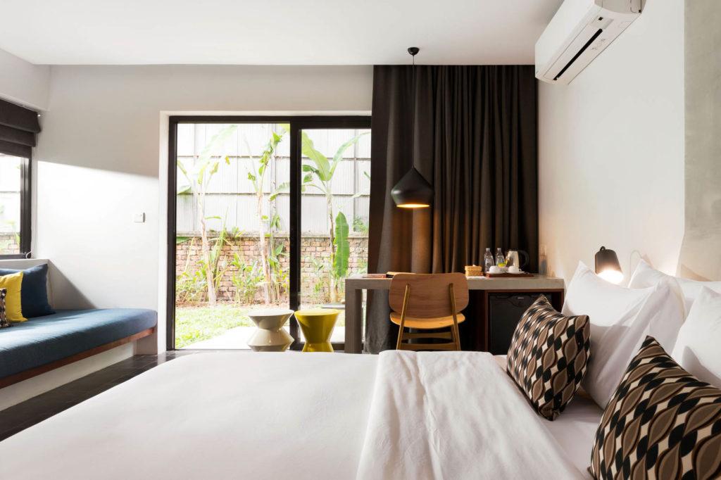 double bedroom in hotel