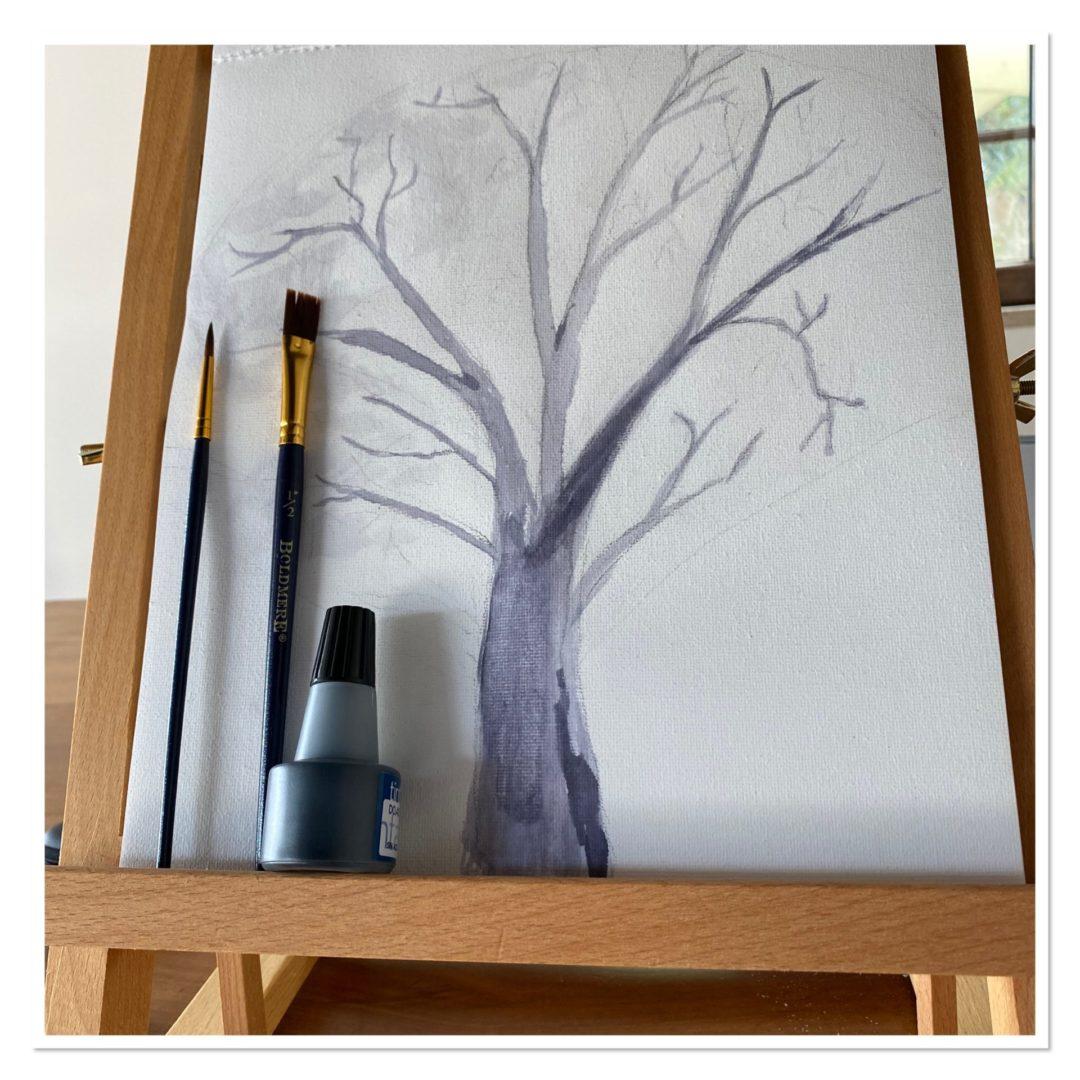 basic painting of tree