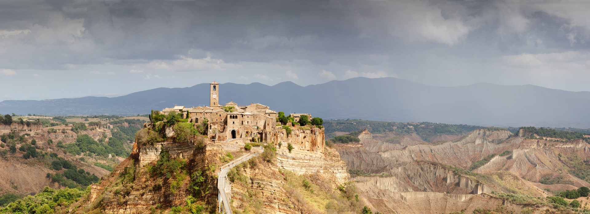 hilltop village in Umbria, Italy