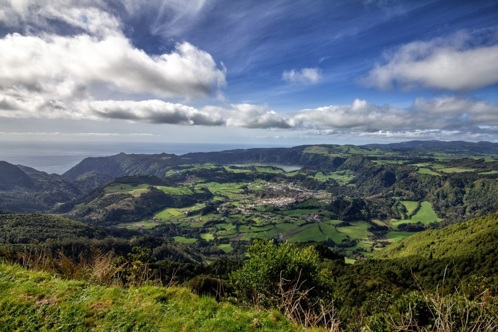 panoramic view of the azores