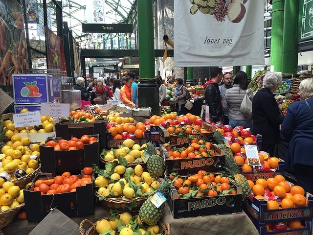 fruit stall at Borough Market