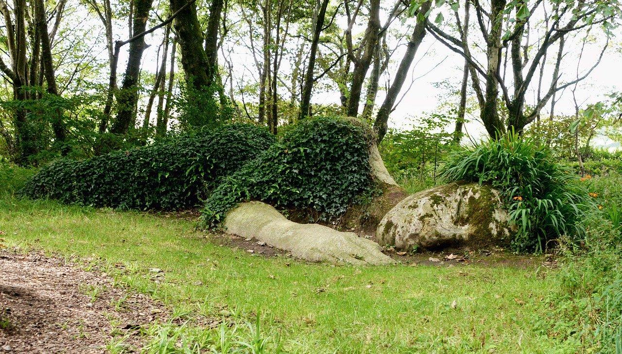 sculpture of sleeping giant