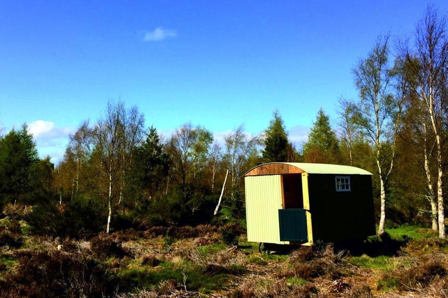 shepherd's hut in scotland