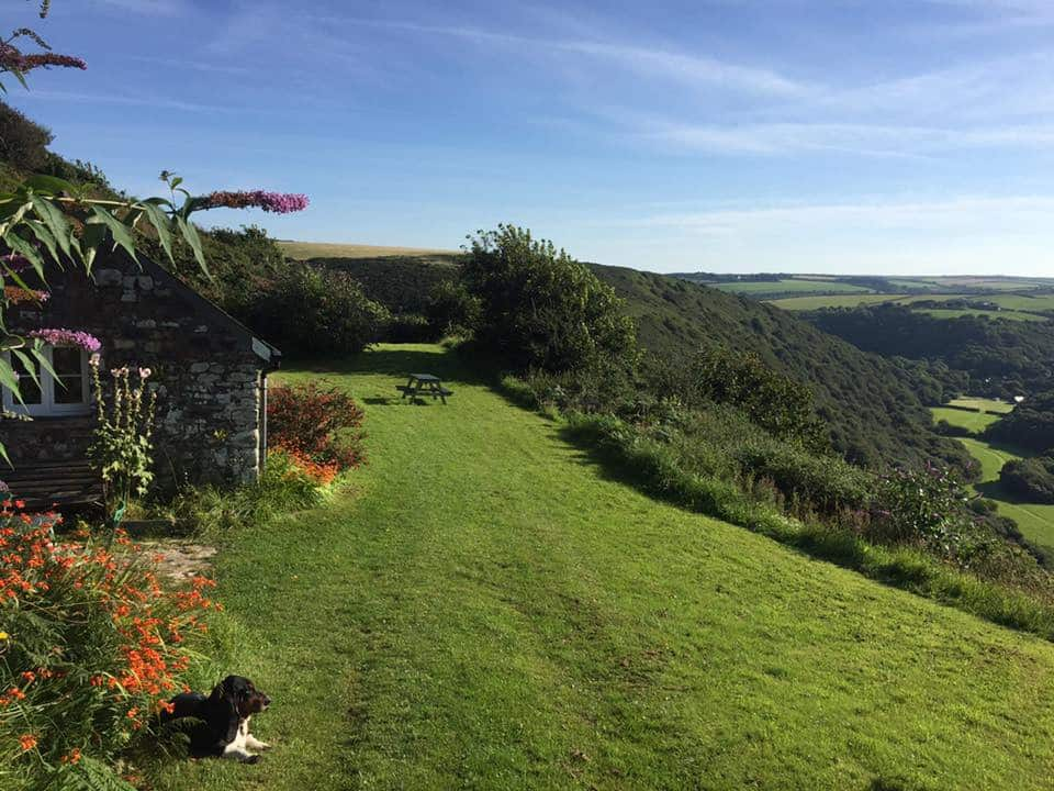 view from cottage in cornwall
