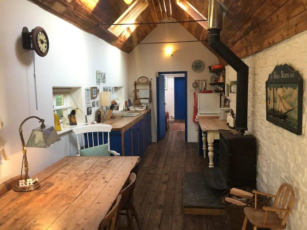 kitchen in cornwall cottage