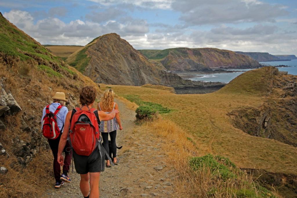 walking along the Cornwall coast