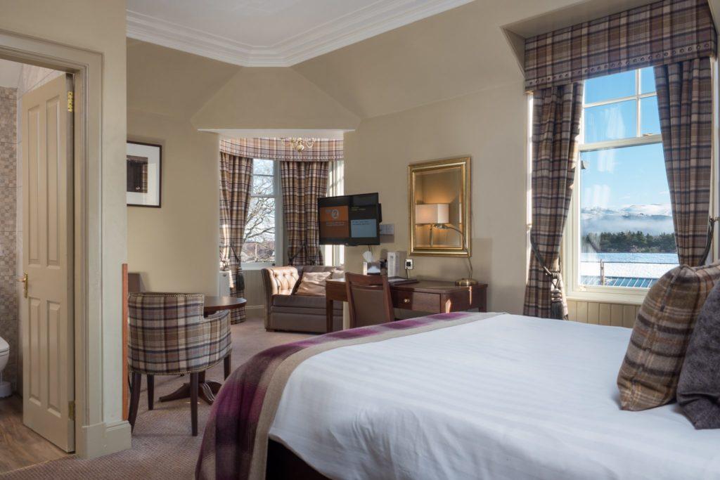 hotel bedroom in scotland