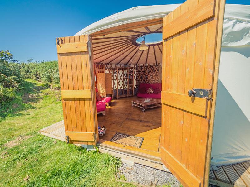 yurt doors and interior