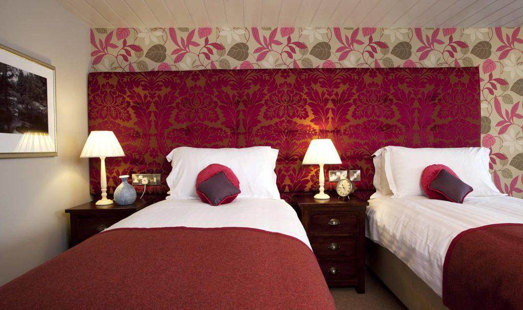 hotel bedroom in devon