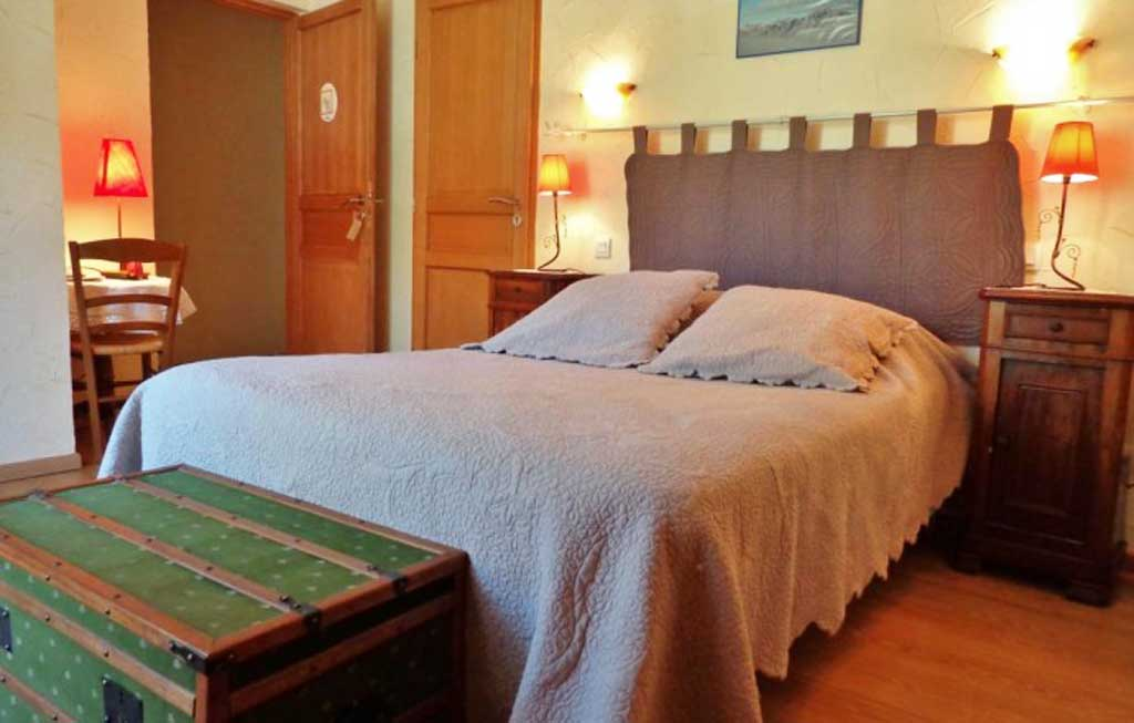 double bed in b&b in france