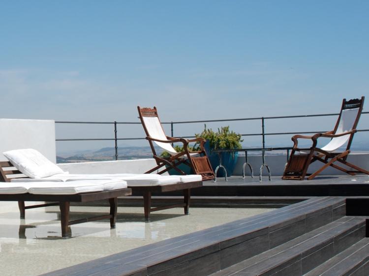 terrace in a hotel in spain