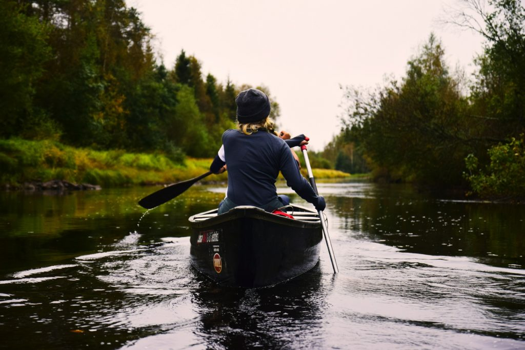 people kayaking in sweden