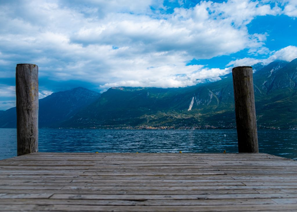 pier at lake garda in italy