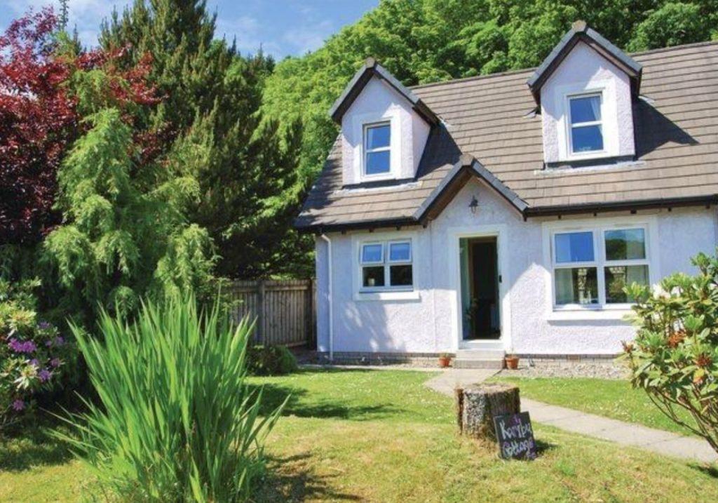 cottage in summer in scotland