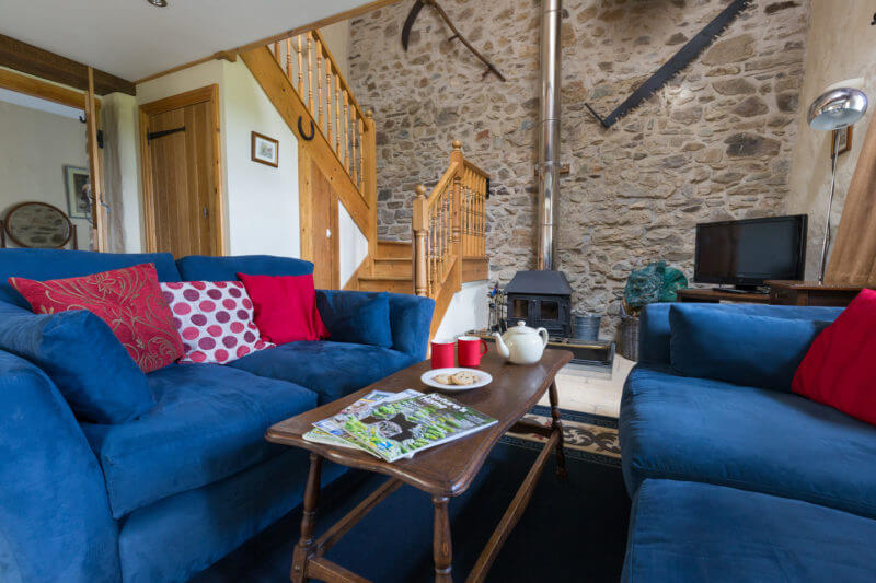 living area of an eco barn
