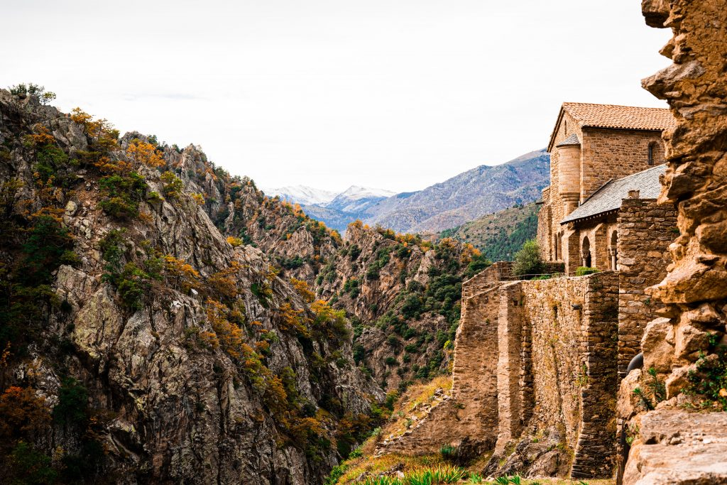 mountain village in the french pyrenees