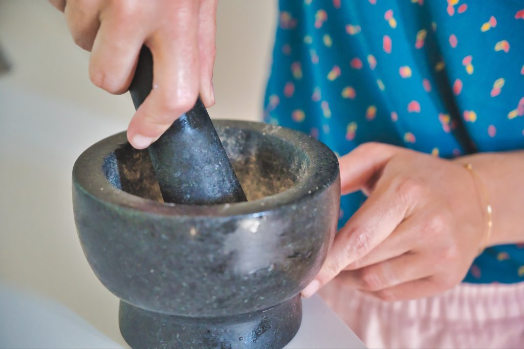 pestle and mortar for italian cooking