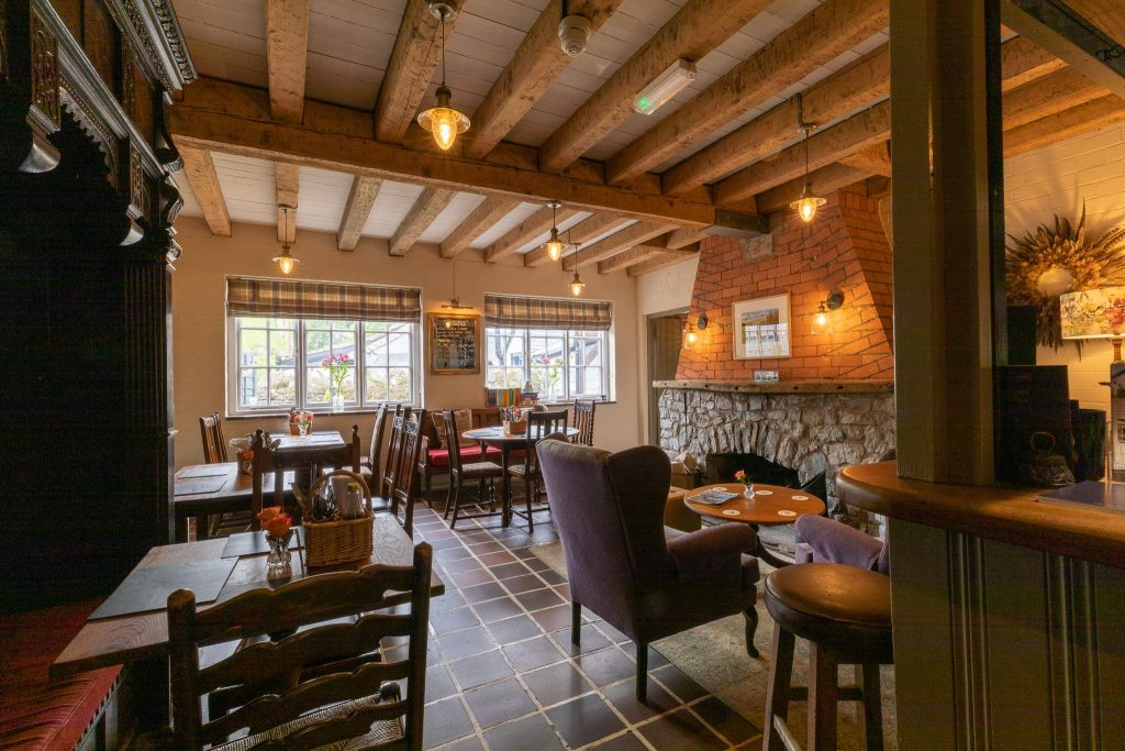 pub dining area in wales