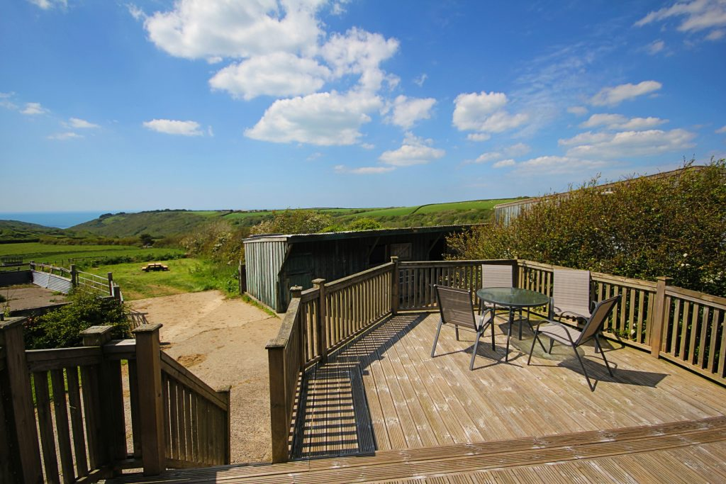 outdoor decking area in cornwall
