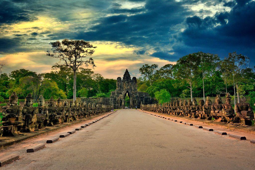 ancient gate in cambodia