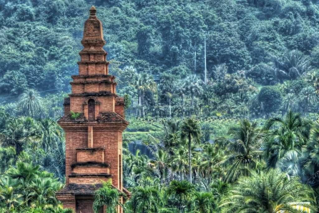 temple in thailand in the jungle