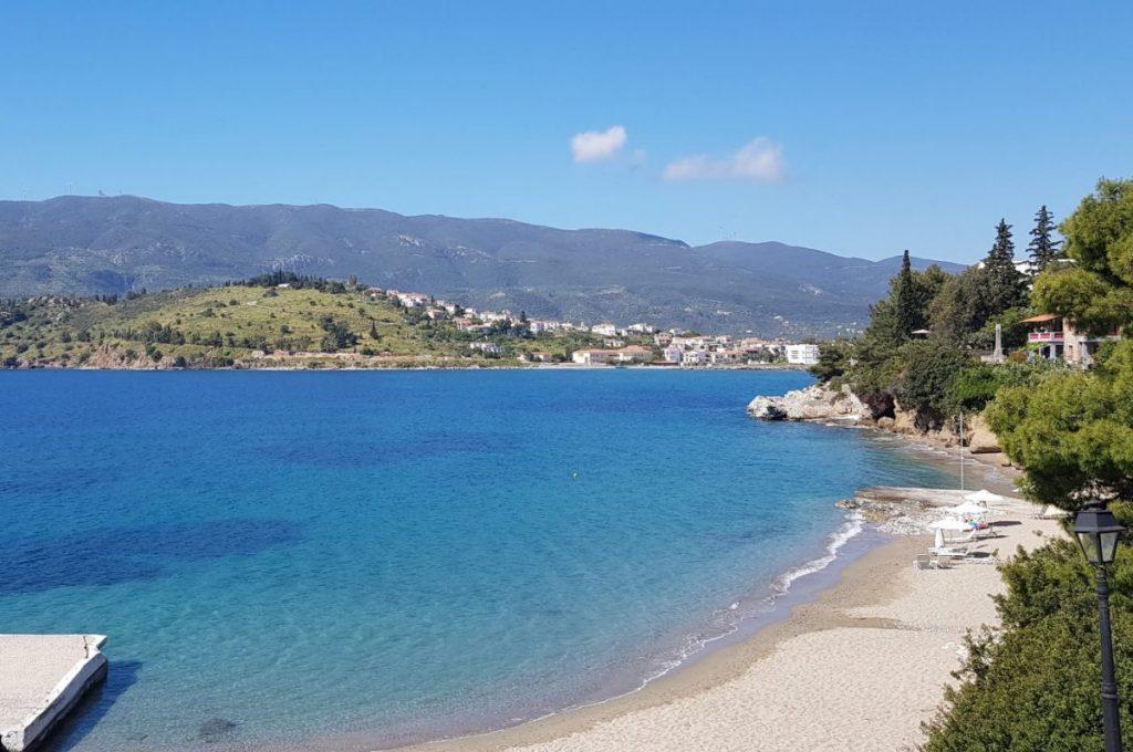 beach in poros greece