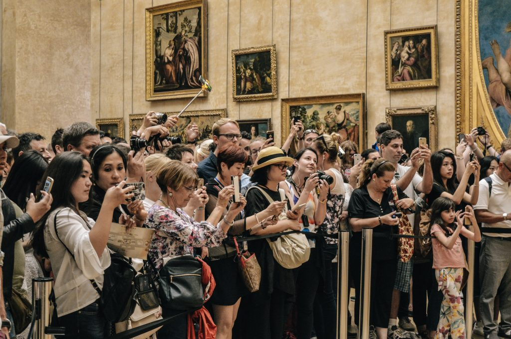 overtourism at an art gallery