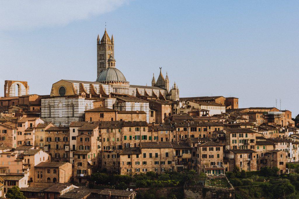 hilltop city of siena