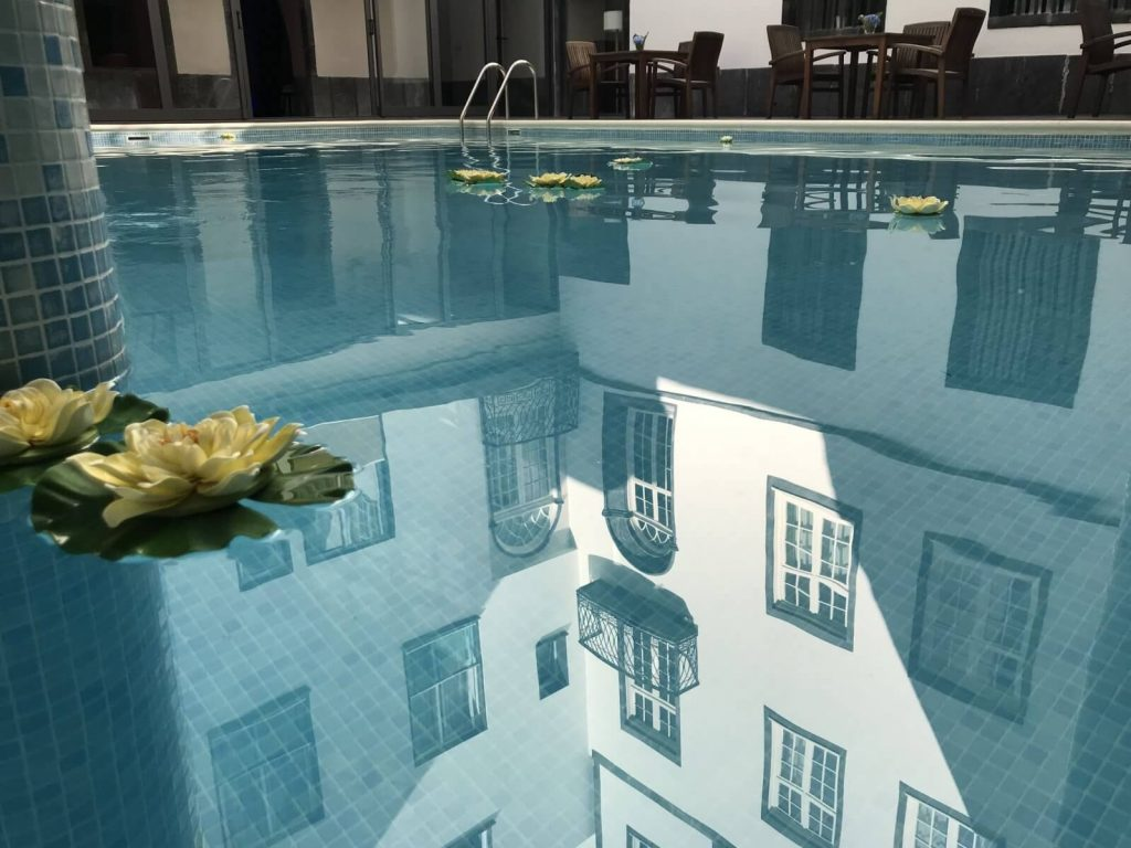 swimming pool in a hotel in the azores