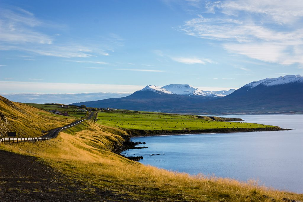mountains and coast in iceland