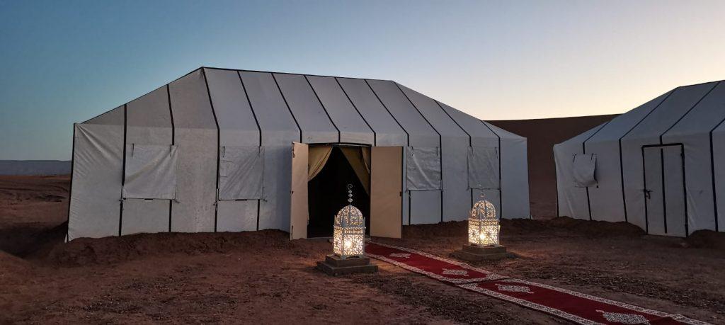 desert camp in the sahara