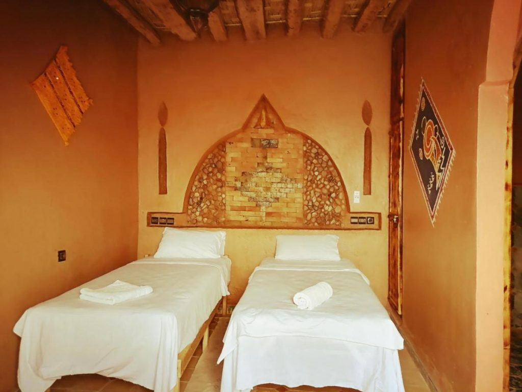 twin room in a riad in morocco