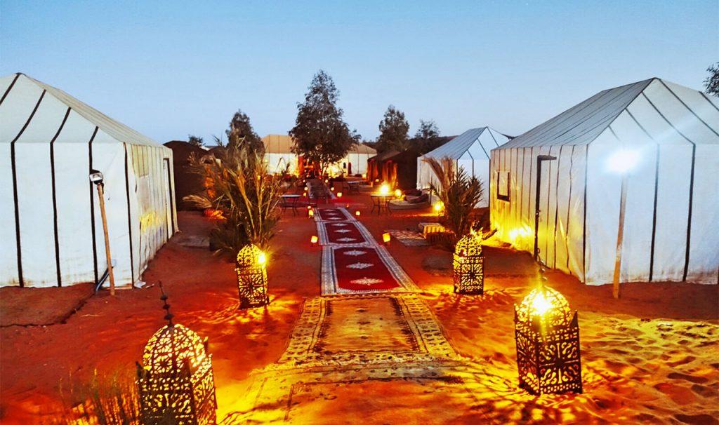desert camp in merzouga desert