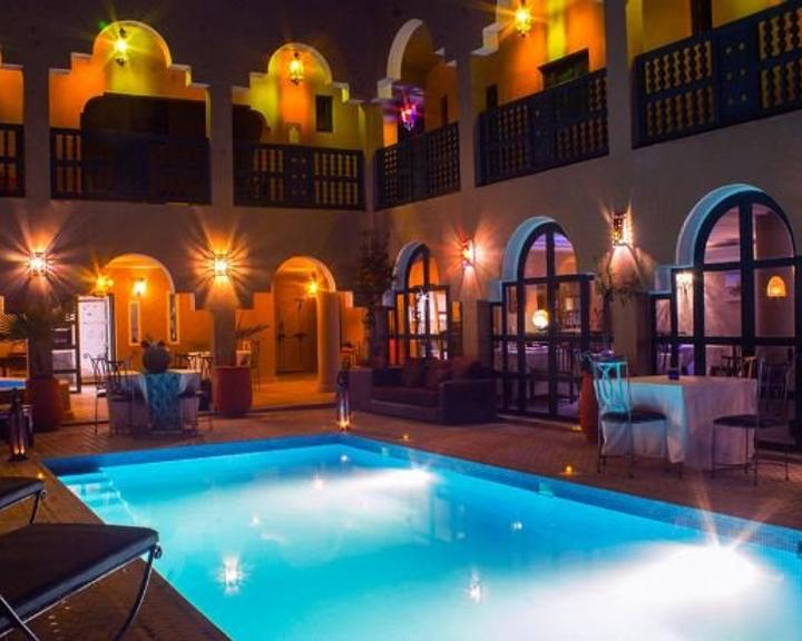 a pool at a riad in morocco