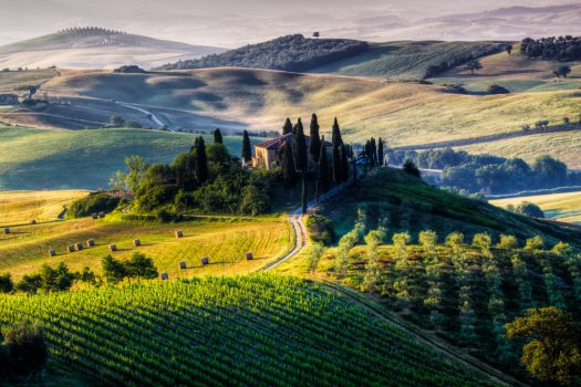tuscan villa in italian hills